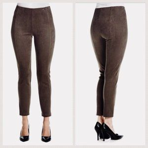 Ivanka Trump Faux-Suede Pull-On Pant in Green